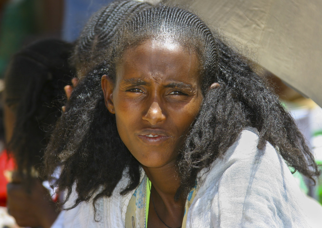 Woman With Traditional Hairstyle In Senafe Market, Eritrea… | Flickr