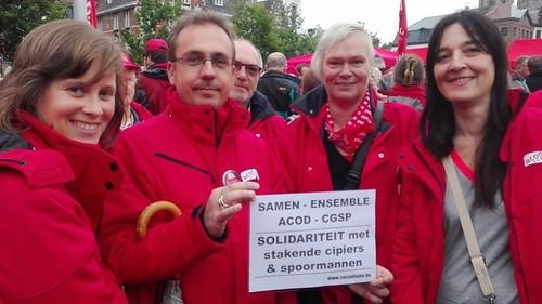 Geslaagde militantenconcentratie van het ACOD in Gent