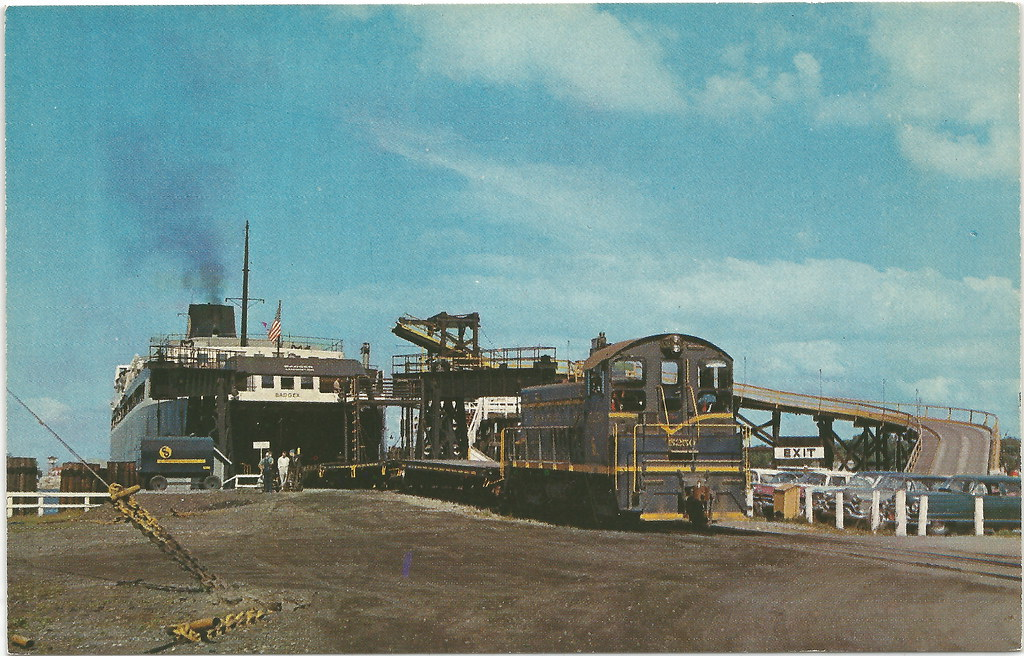 Cen Ludington Mi Loading Rail Cars Ss Badger Pere Marquett