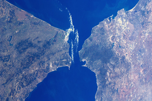 Africa meets Europe - Strait of Gibraltar | by André Kuipers