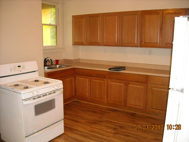 Kitchen cabinets laminate flooring flickr photo sharing for Kitchen cabinets 0 financing