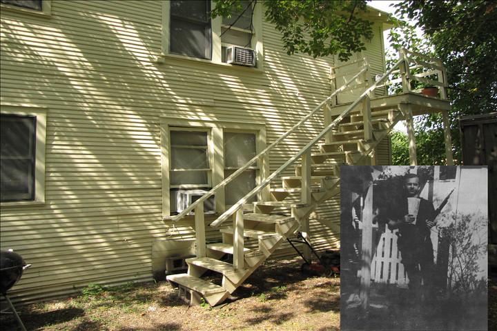 Lee Harvey Oswald Backyard Photos   214 W. Neeley Street ...