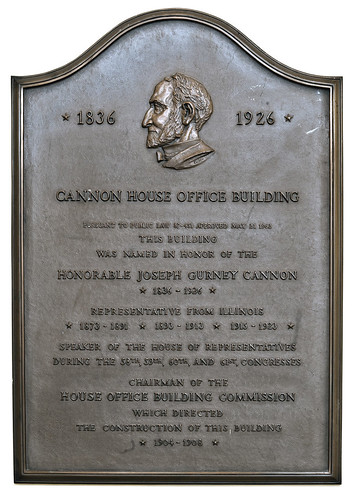 Cannon House Office Building Plaque | by USCapitol