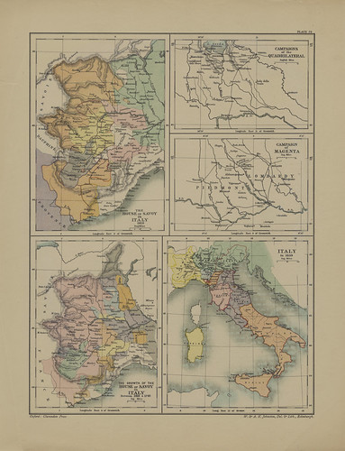 Map page of Section LXX The House of Savoy in Italy from Part XIII of Historical atlas of modern Europe from the decline of the Roman empire : comprising also maps of parts of Asia and of the New world connected with European history | by uconnlibrariesmagic