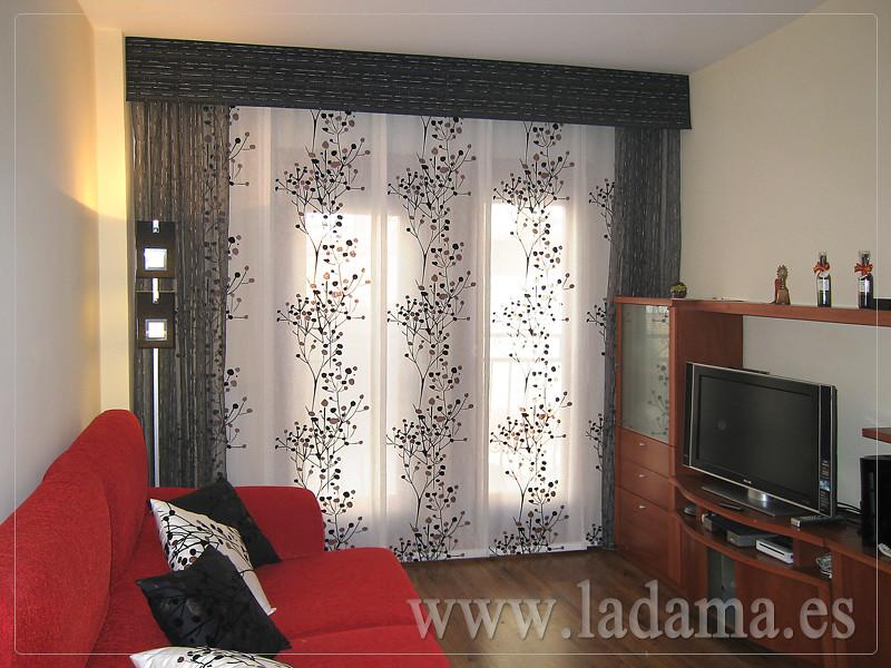 Decoraci n para salones modernos cortinas paneles japone - Ver cortinas para salon ...