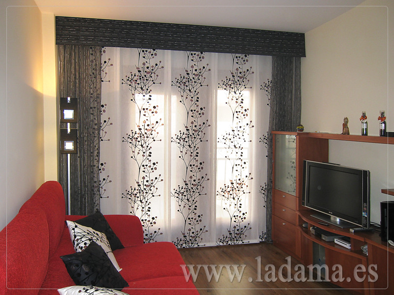 Decoraci n para salones modernos cortinas paneles japone - Visillos para salones ...