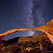 Night stars over Landscape Arch