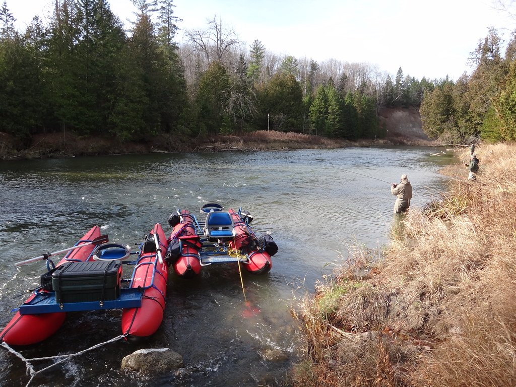 Guide trips to Ontario Salmon rivers