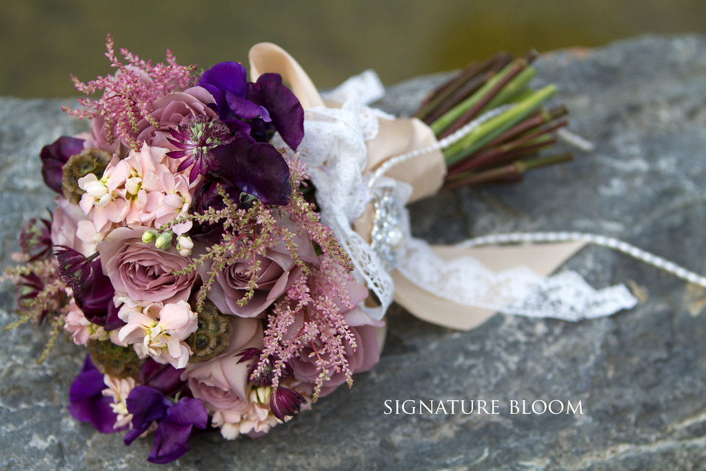 Wedding Flowers San Jose Mauve Vintage Bouquet