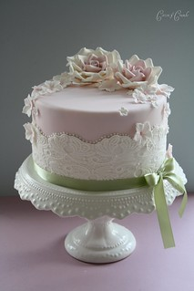 Lace b'day cake | by Cotton and Crumbs