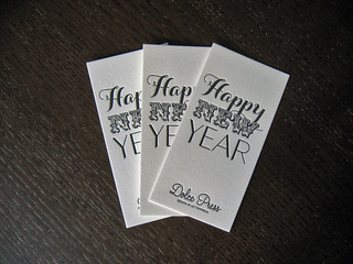 Happy New Year Letterpress Card | by dolcepress