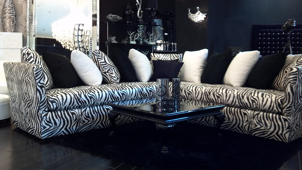 4344 L Shaped Zebra Sofa Relaxing Never Looked So