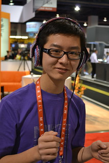 testing out Skullcandy headphones | by International CES