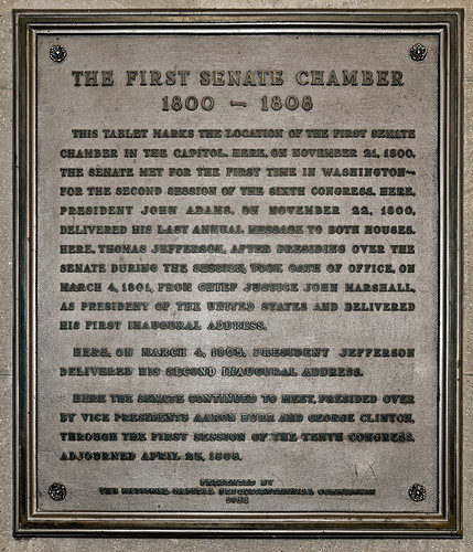 First Senate Chamber in the Capitol Plaque | by USCapitol