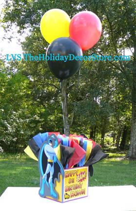 12 inch balloon centerpiece weight cover batman decoration