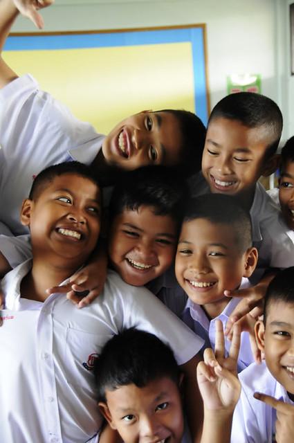 Happy boy Students in Pattaya