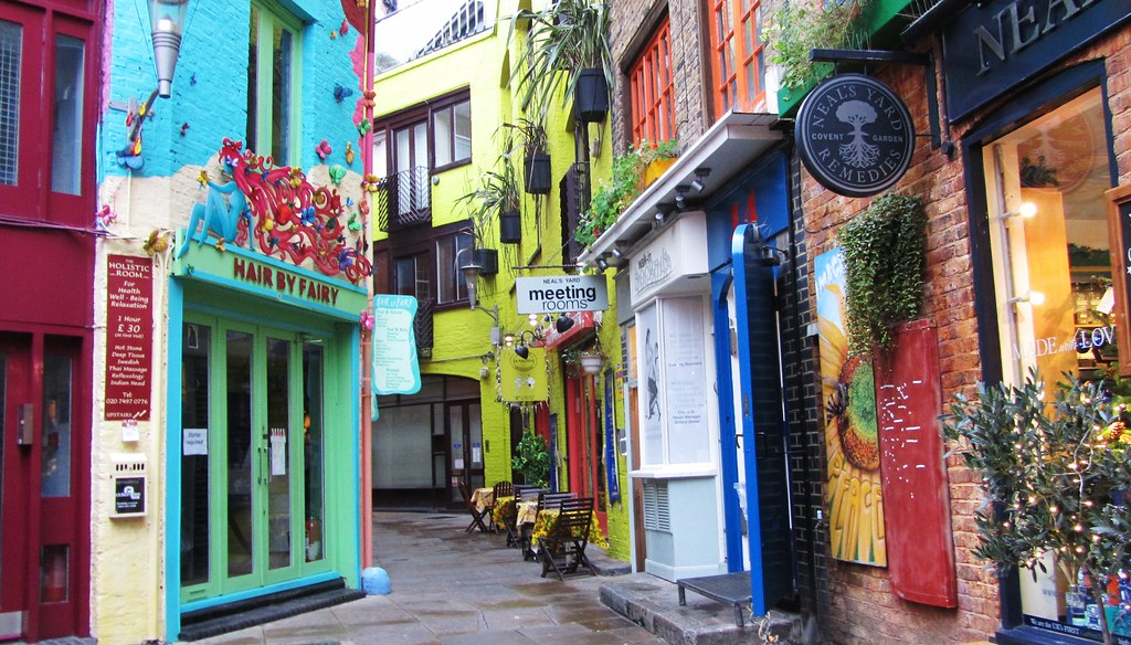 Neal's Yard, un coin shopping coloré et agréable près de Covent Garden à Londres - Photo de Scrappy Annie