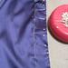 Blue silk blouse front stiching