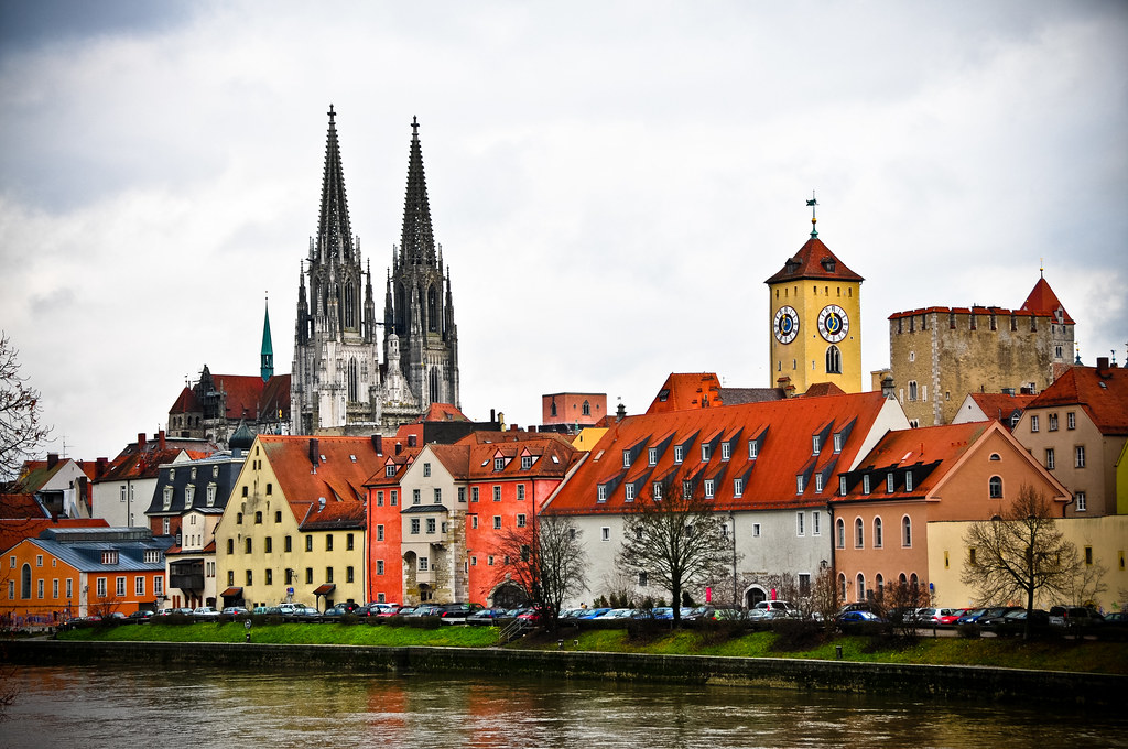 old town skyline and regensburger dom regensburg germany flickr. Black Bedroom Furniture Sets. Home Design Ideas