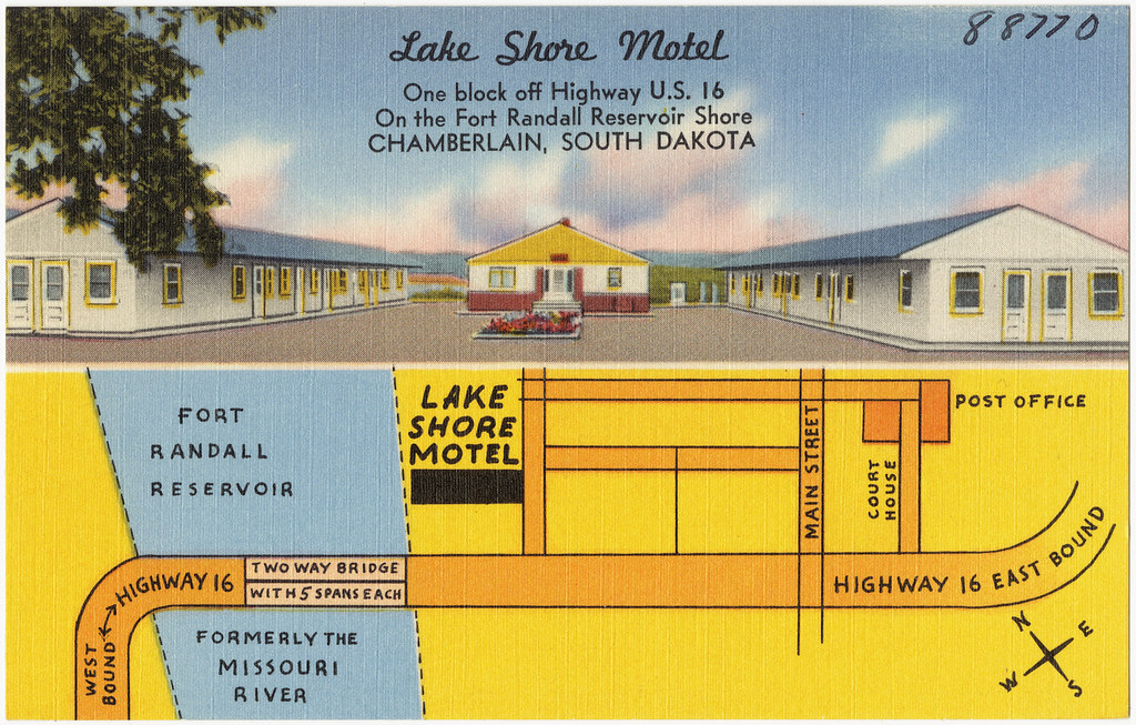Lake shore motel one block off highway u s 16 on the fo for Motel one wellness