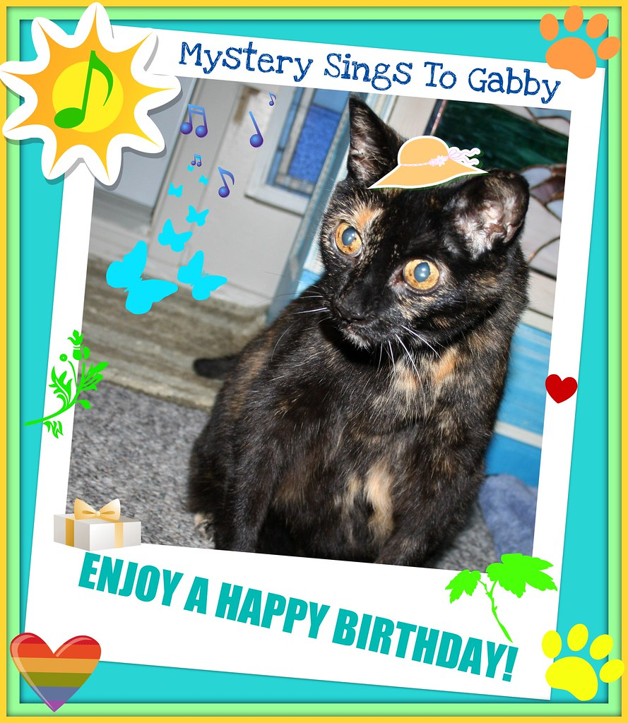 Mystery Sings Happy Birthday To Gabby!