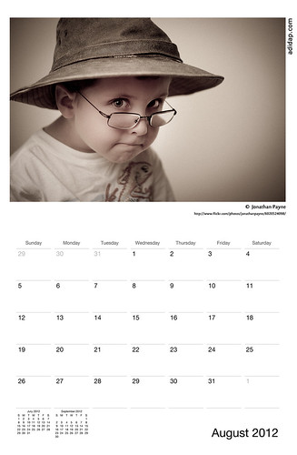 ADIDAP Calendar 2012 US August | by akhater