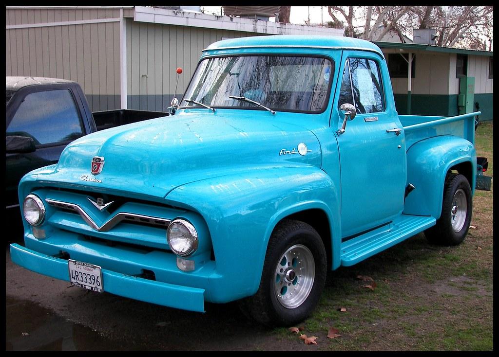 blue  u0026 39 55 ford