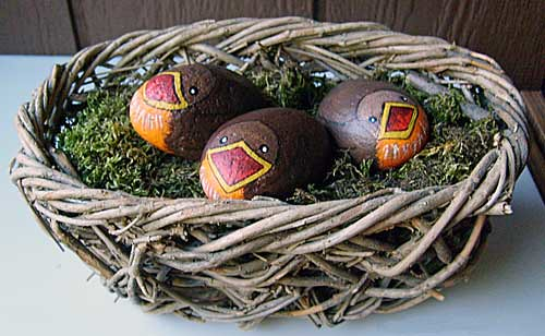 Painted Rock Baby Robins Three Smooth Stones Became Baby