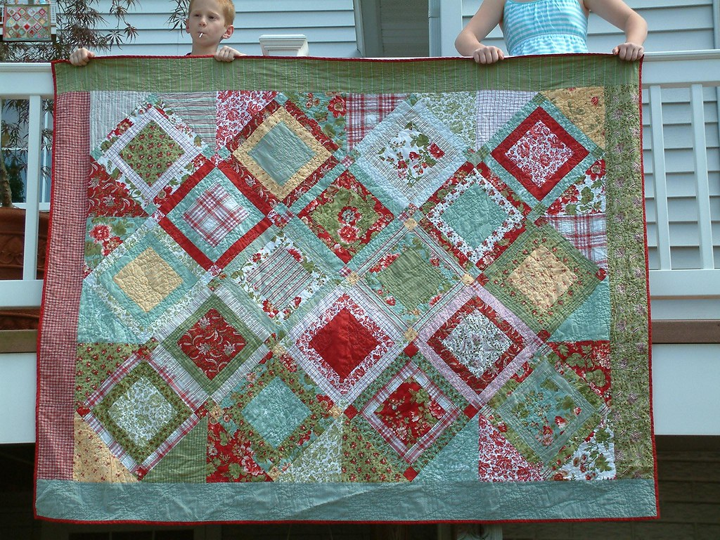 Flower Garden Quilt  Sisters Fabric Kit Maison De Noel I Flickr