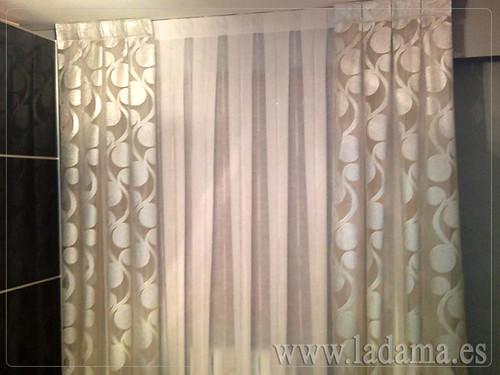 Decoraci n para dormitorios modernos cortinas en barra for Adornos para cortinas