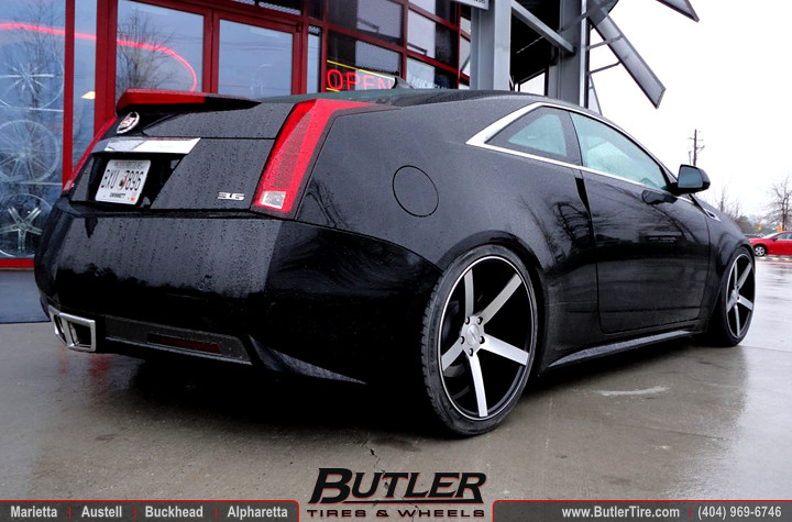 Cadillac Cts Coupe With 20in Vossen Vvs Cv3 And Coilovers