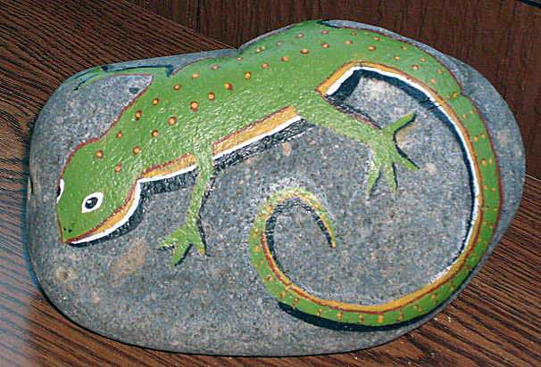 Lizard Painted Rock This Flickr