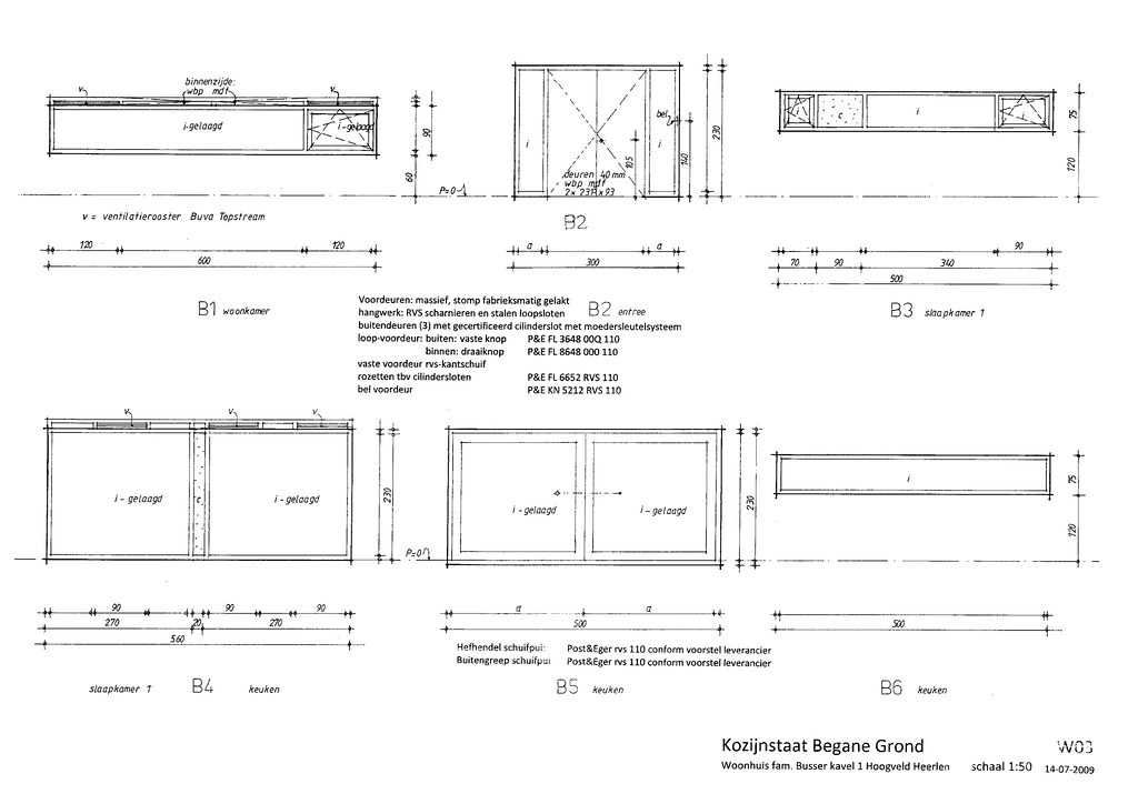W03 Drawing Window Door Frames Ground 1 50 Bssr House