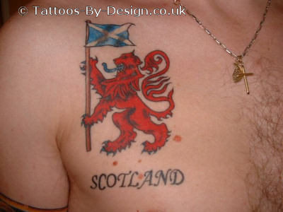 scottish rampant lion tattoo xination flickr. Black Bedroom Furniture Sets. Home Design Ideas