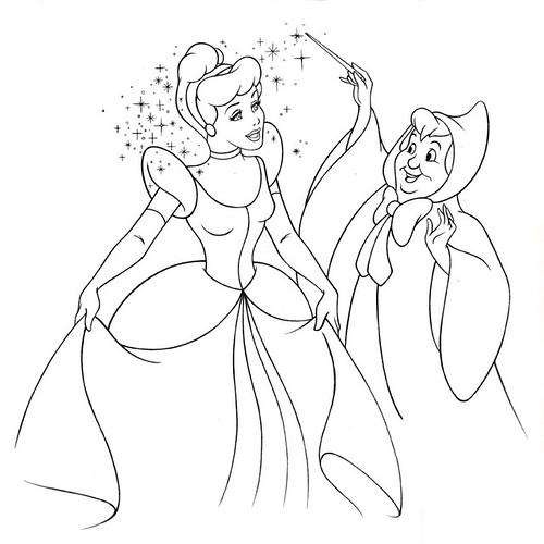 Cinderella fairy godmother flickr photo sharing for Cinderella fairy godmother coloring pages