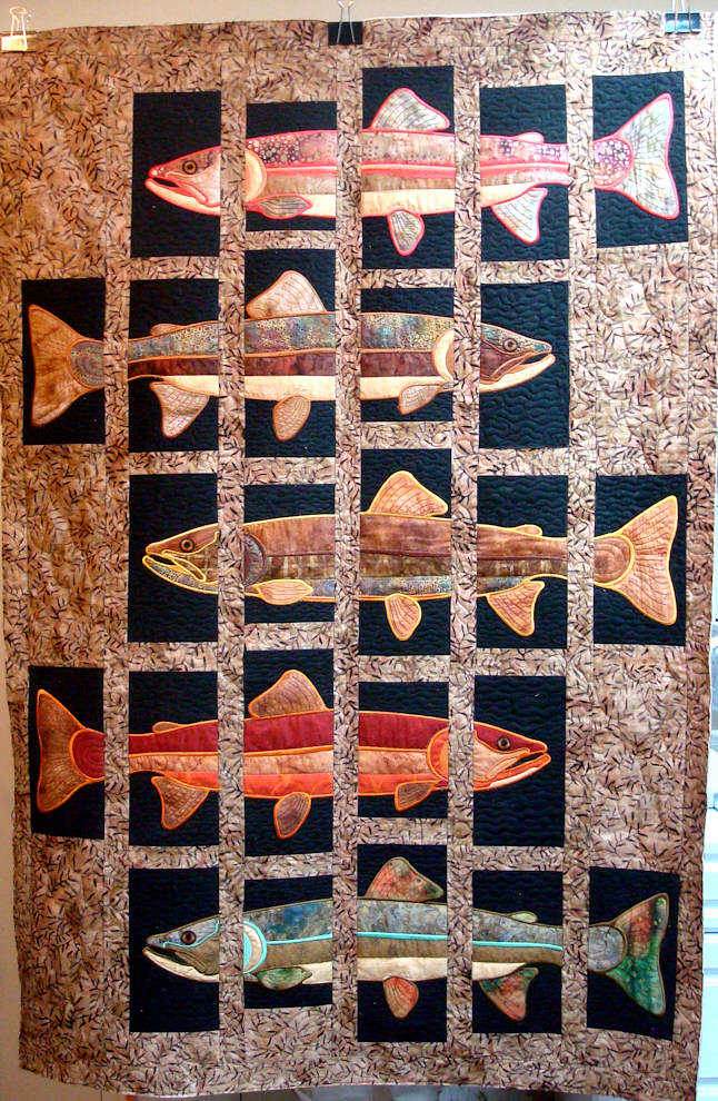 Lunch Box Quilt Design - Trout Quilt | Made by a customer, e… | Flickr : lunch box quilts - Adamdwight.com