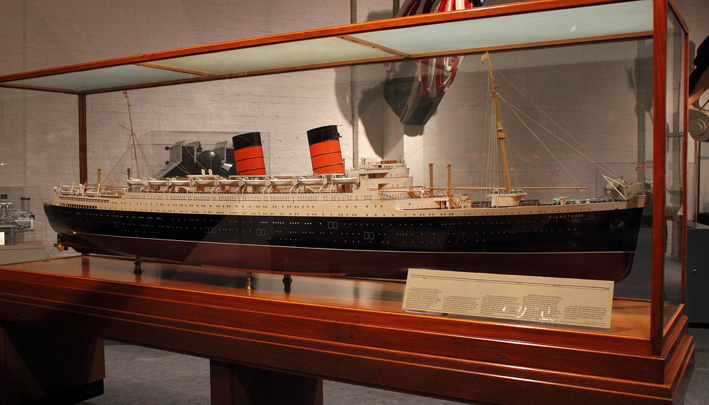 RMS Mauretania II Model Mariners' Museum | Large scale ...