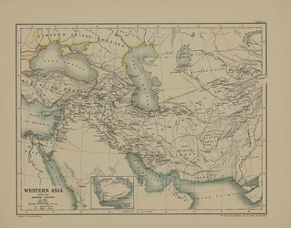 Map page of Section LXXVII Western Asia under the Abbasid Caliphs (786)from Part V of Historical atlas of modern Europe from the decline of the Roman empire : comprising also maps of parts of Asia and of the New world connected with European history | by uconnlibrariesmagic