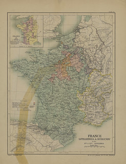 Map page of Section LIII France, Lotharingia, and Burgundy in the eleventh and twelfth centuries from Part IX of Historical atlas of modern Europe from the decline of the Roman empire : comprising also maps of parts of Asia and of the New world connected | by uconnlibrariesmagic