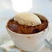 Dessert: Eve's Pudding with pear