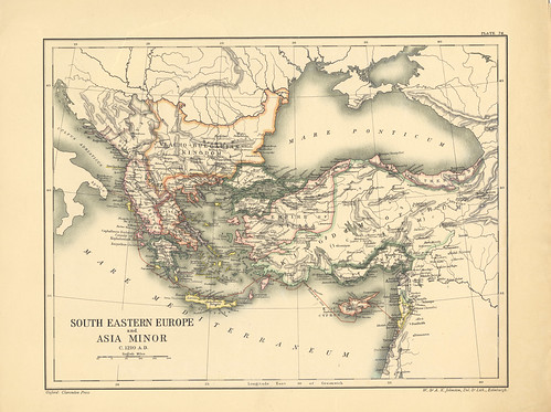Map page of Section LXXIV South-Eastern Europe and Asia Minor c.1210 from Part XXI of Historical atlas of modern Europe from the decline of the Roman empire : comprising also maps of parts of Asia and of the New world connected with European history | by uconnlibrariesmagic
