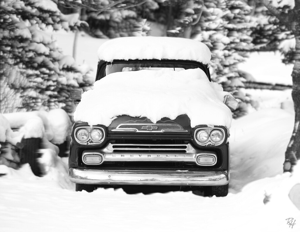 New Chevy Truck >> Old Chevy Truck in snow winter 2012 | Like a rock, a cold sn… | Flickr