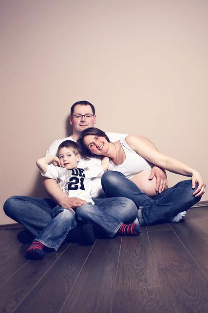 Babybauch Familienportrait