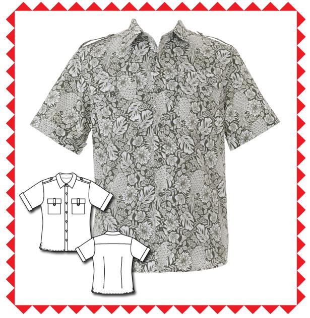 143 Men's Shirt Pattern