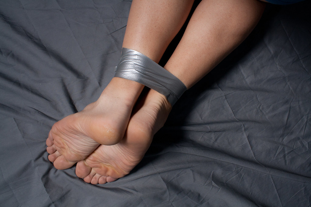 Tickling my girlfriend feet in nylon 5