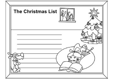 santa list coloring page christmas list coloring page christmas activity