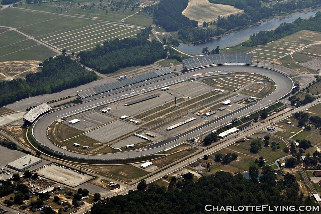 Darlington Raceway Aerial Shot Of The Egg Shapped
