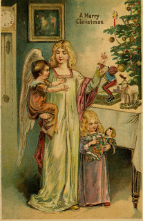 Angel with toys for children | by The Texas Collection, Baylor University
