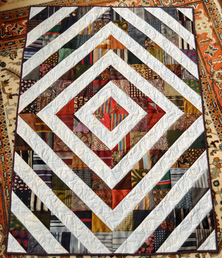 Rae S Dad S Tie Quilt This Is A Lap Size Quilt I Made