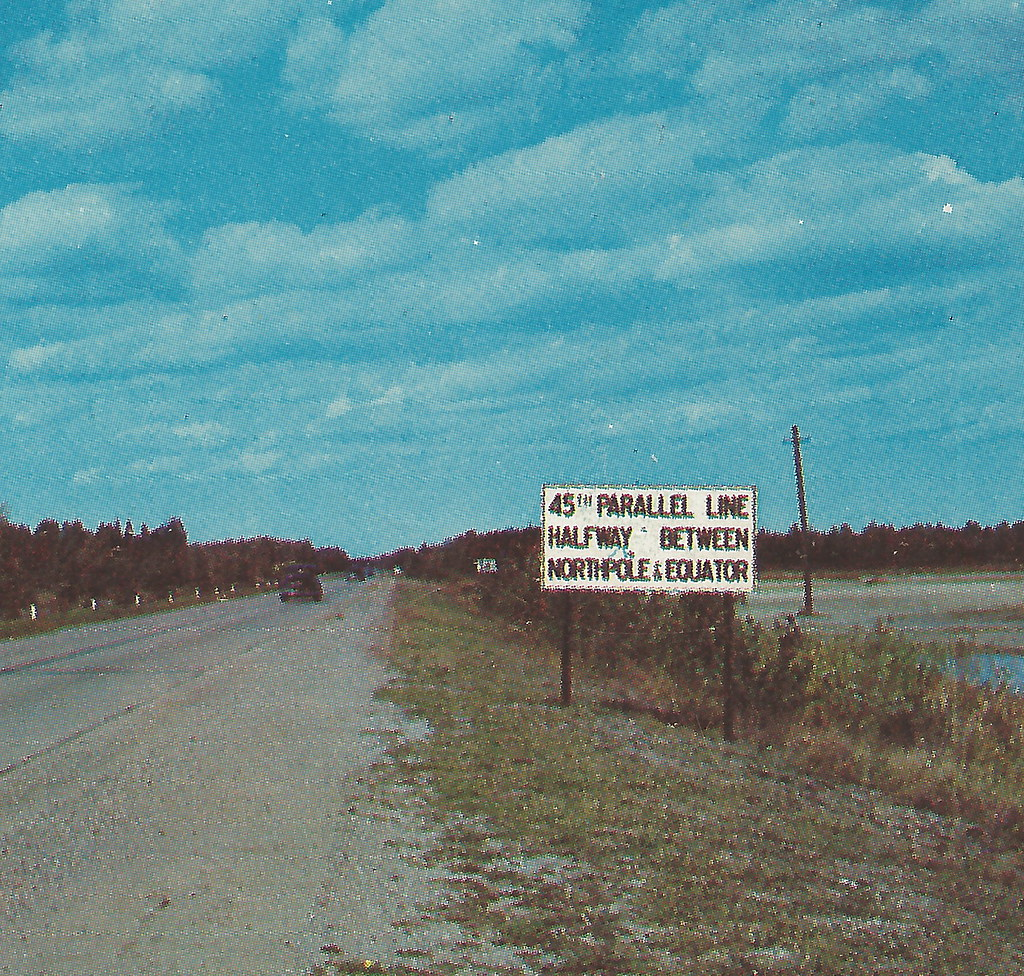 Ne Alpena Mi 45th Parallel Sign On Us 23 And Other Points